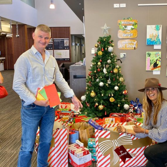Selina and Mayor Paul - Christmas 2019 Gift Appeal Gifts